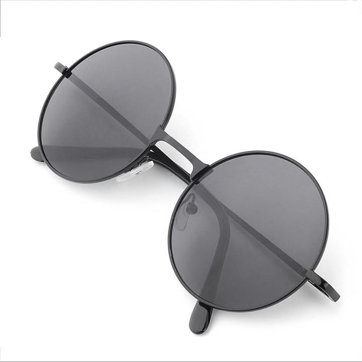 Unisex Fashion Vintage Round Frame Lens Sunglasses Eye Wear Portable Eyewear