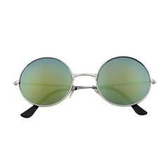 Women Men Colorful Mirror lens Round Glasses Unisex Sunglasses Vintage