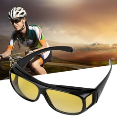 Man Woman Anti Glaring Vision Driver UV 400 Night Driving Glasse Goggles coffee one size