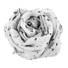 Musical Note Lightweight Chiffon Scarf Comfortable Casual Women Scarf