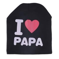 Cute I LOVE PAPA Toddler Kids Baby Boy Girl Infant Soft Beanie Hat Cap
