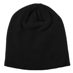 Fashion Soft Knitted Beanie Hat Winter Warm Hat Unisex Men Women Ski Cap black one size