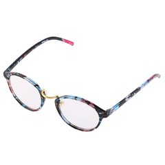 Man Woman Classic Geek Vintage Large Frame Fashion Round Clear Lens Glasses