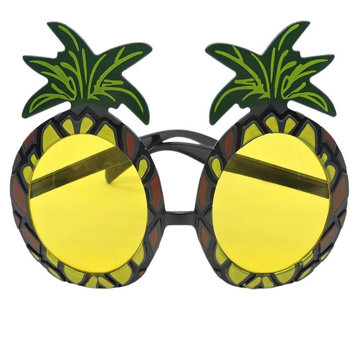 Hawaiian Beach Style Funny Pineapple Shape Sunglasses Goggles for Fancy Party