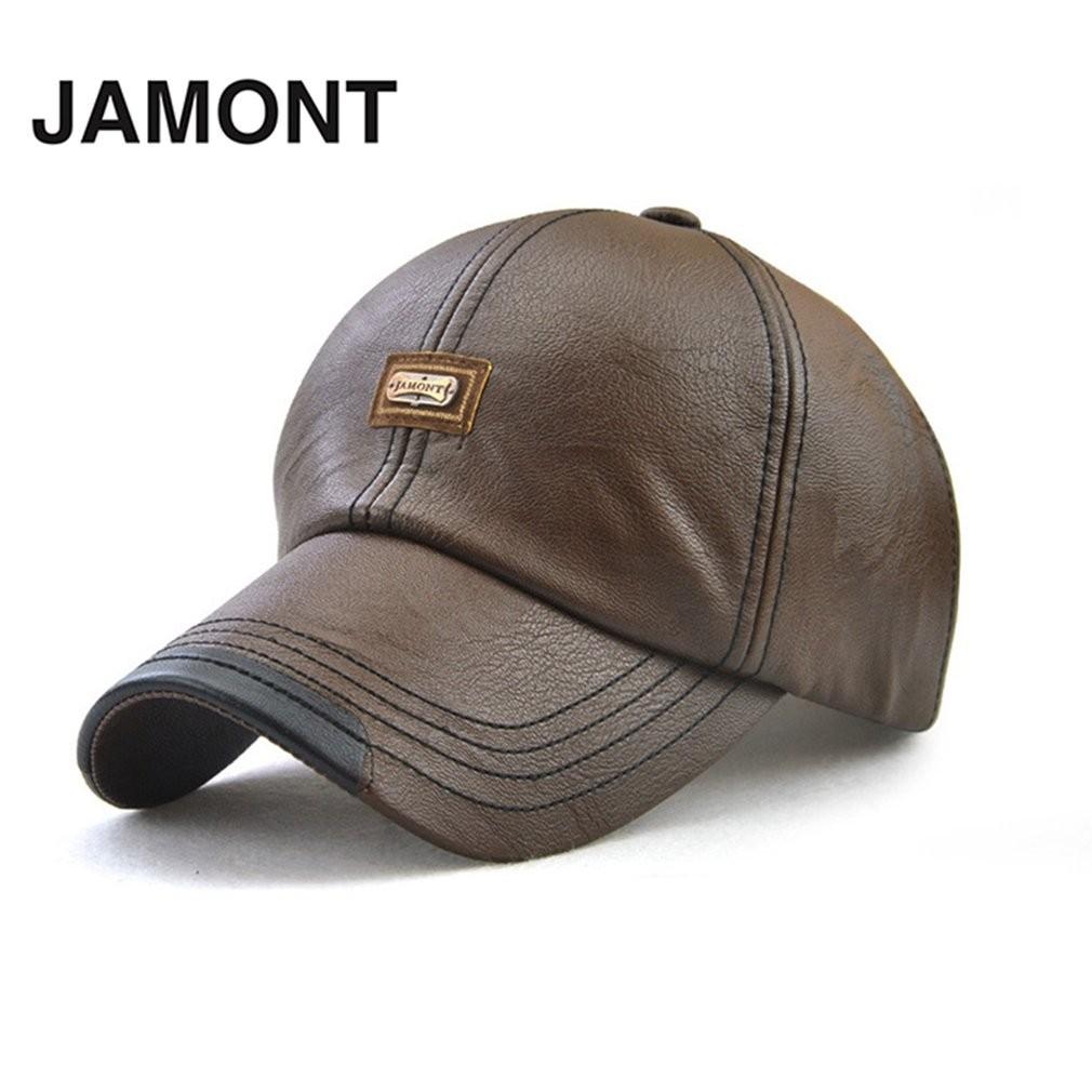 57e1e2c2 JAMONT 12966 Soft Men Baseball Cap Male Baseball Hat Fashion PU Peaked Hat