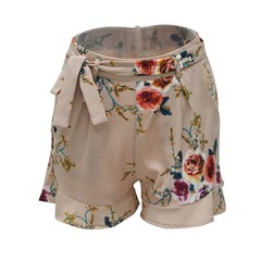 Summer Women Shorts Floral Print Ruffles High Waist Sexy Casual Beach Shorts