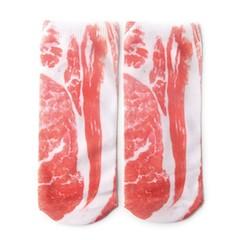 3D Printed Meat Skeleton Diverse Patterns Socks Personality Female Boat Socks