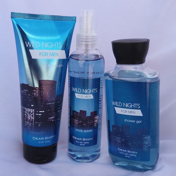 Signature collection Wild Nights 3 in 1 Shower gel, Body Splash and Lotion