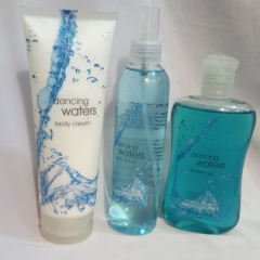 Signature collection Running waters / Dancing Waters 3 in 1 Shower gel, Body Splash and Lotion