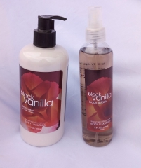 Signature collection Black Vanilla 2 in 1 Body Splash and Lotion pump Normal