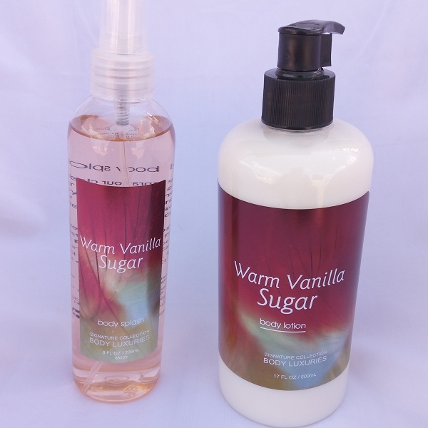 Signature collection Sweet Vanilla / Warm Vanilla Sugar 2 in 1 Body Splash and Lotion pump normal