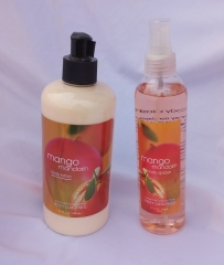 Signature collection Mango Manadarin 2 in 1 Body Splash and Lotion pump normal