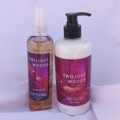 Signature collection Tropical woods/ Twilight Woods 2 in 1 Body Splash and Lotion pump normal
