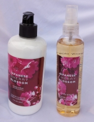 Signature collection Japanese Cherry Blossom 2 in 1 Body Splash and Lotion pump normal