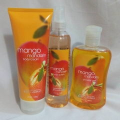 Signature collection Mango Mandarin 3 in 1 Shower gel, Body Splash and Lotion