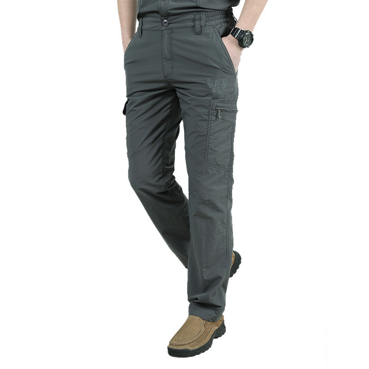 Quick Dry Casual Pants Men Army Military Trousers Men's Tactical Cargo Pants Waterproof Trousers dark gray xxl