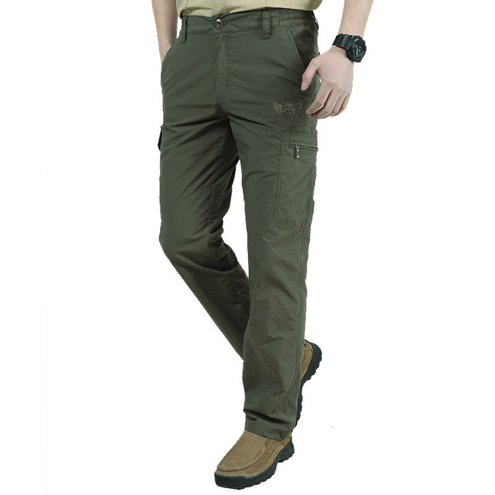 Quick Dry Casual Pants Men Army Military Trousers Men's Tactical Cargo Pants Waterproof Trousers armygreen xl