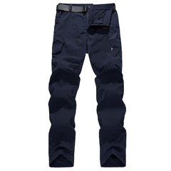 Quick Dry Casual Pants Men Army Military Trousers Men's Tactical Cargo Pants Waterproof Trousers dark blue m