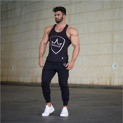 Men Joggers Sweatpants Men Joggers Trousers Sporting Clothing The high quality Bodybuilding Pants black m