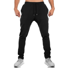 Fashion Mens Cotton Sweatpants Gyms Fitness workout solid trousers Pencil Pants Joggers Sportswear black m