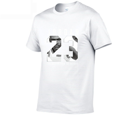 Jordan 23 Men Fashion T-Shirt Cotton Print Men T shirt Homme Fitness Camisetas Hip Hop Tshirt white m cotton