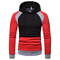 Lucky Men Sweater Hot Sell Men's Tops Hooded Color Sweater Large Size Sweater Jacket red xxl