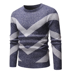 Lucky Men New Round Neck Sweater Men Fashion Foreign Trade Casual Sweater Sweater gray m