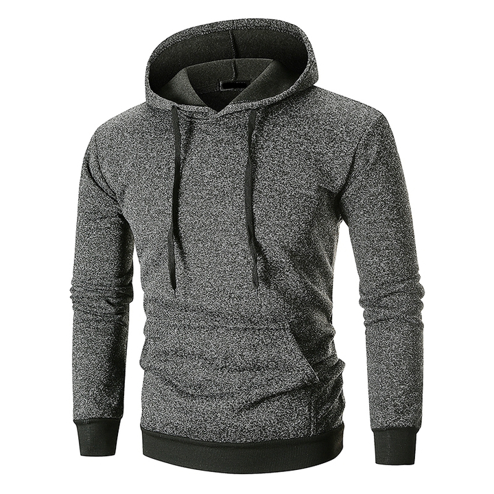 Lucky Men 2018 New arrival Fashion Popular Pocket Design Hooded Sweater dark gray xxl