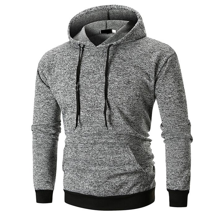 Lucky Men 2019 New arrival Fashion Popular Pocket Design Hooded Sweater light gray l