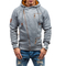 Men's Hooded Sweater Personality Side Zipper Cationic flower gauze sweater gray s