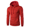 Lucky Men New Men's Fashion Slim Hooded Long-sleeved Sweater Casual Brushed Sweatshirt red m