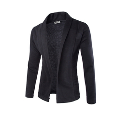 Lucky Men New Arrival Simple Cardigan Slim Sweater Coat Men's V-neck Sweater black m