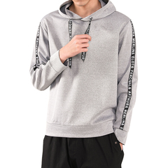 Men's 2019 New arrival Custom Hooded Solid Color Net Edition Casual Wear gray s