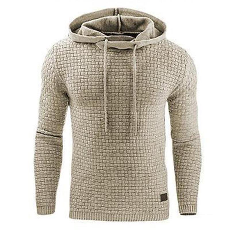 Men Hooded Sweatshirt Solid Color Plaid Hoodies Male Long Sleeve Hoodie Casual Sportswear US Size black 4XL 11