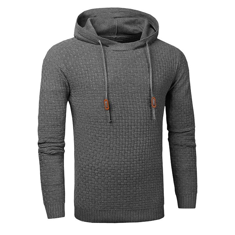 Men Hooded Sweatshirt Solid Color Plaid Hoodies Male Long Sleeve Hoodie Casual Sportswear US Size black 4XL 5
