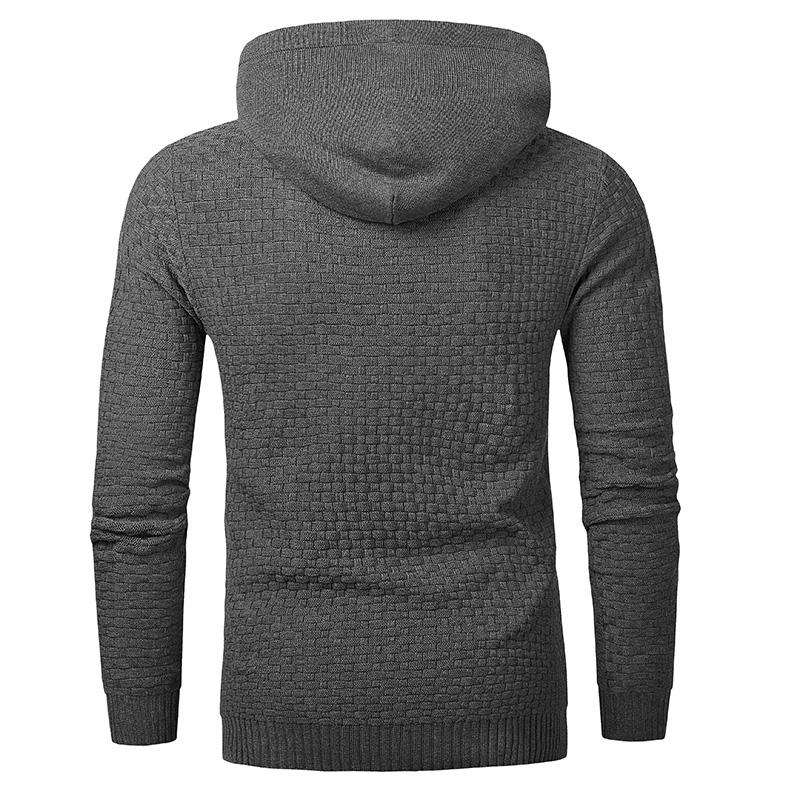 Men Hooded Sweatshirt Solid Color Plaid Hoodies Male Long Sleeve Hoodie Casual Sportswear US Size black 4XL 6