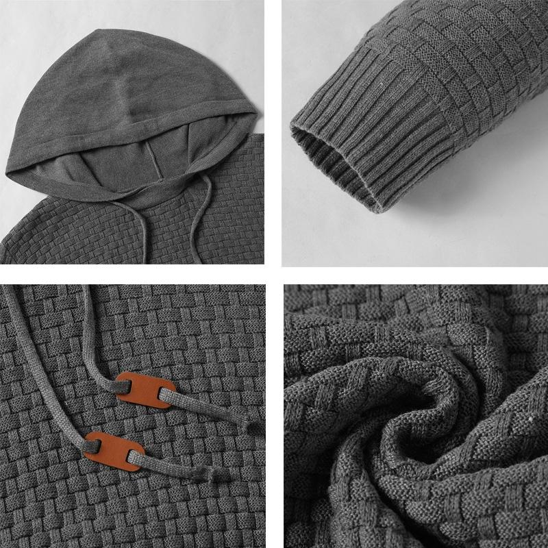 Men Hooded Sweatshirt Solid Color Plaid Hoodies Male Long Sleeve Hoodie Casual Sportswear US Size black 4XL 7