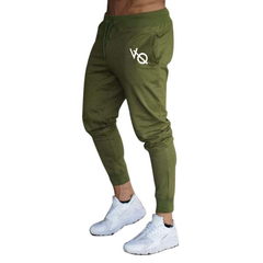 Running Sports Training Trousers Slim Brothers Elastic Closing Small Feet Sports Pants fitness green and white xxl