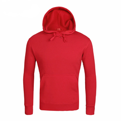 2019 New Men's Hooded Sweater Hooded Round Neck Sweater Collar Couple Lovers jacket Casual red s