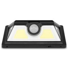 Solar Powered Wall Lamp COB Motion Sensor Light BLACK