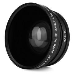 HD 72MM 0.43X Wide Angle Macro Camera Lens BLACK