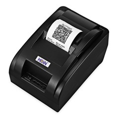 HOIN HOP - H58 Wireless 58mm USB Bluetooth Thermal Printer Support Voice Prompt BLACK UK PLUG