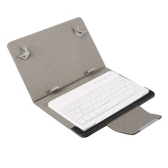 Bluetooth Keyboard PU Leather Case Stand Cover  for Pad Universal 7inch 8inch BLACK