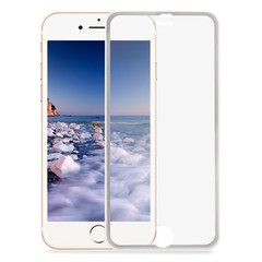3D Tempered Glass Curved Metal Edge Screen Protective Film for iPhone 7 Plus 5.5 inch SILVER