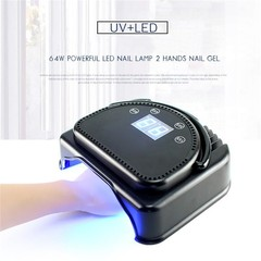 Pro 64W Cordless LED/UV Nail Lamp Gel Polish Nail  1 Roll/50Pcs Nail Wi Normal