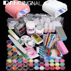 98 Set XXXL Farbe Acryl Pulver UV Lampe Pinsel Gli Multicolor Normal