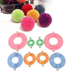 8 Pcs 4 Sizes Fluff Ball Weave PomPom Maker Knitti one color one size