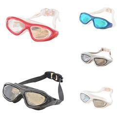 Anti-fog UV Waterproof Racing Swim Swimming Goggle Black one size