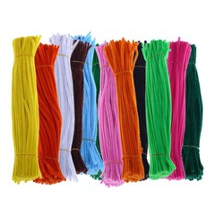 100Pcs Chenille Stems Pipe Cleaners Twist Rods Kid 10# one size