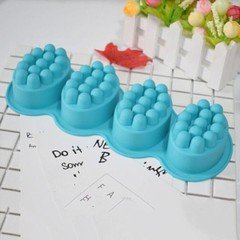 4 Cavity Massage Bar Silicone Mold 3D For Pudding  Multicolor Normal